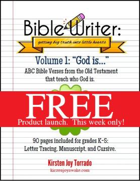 Free Bible Copywork Curriculum {Limited Time}