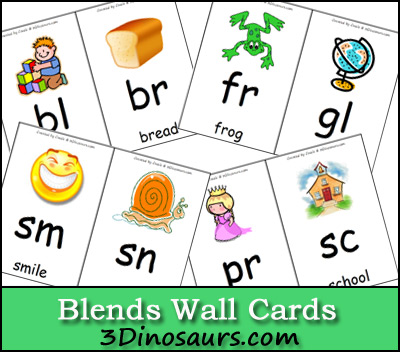 Free Blends Wall Cards