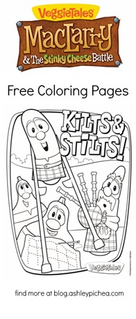 Free VeggieTales Coloring Pages: MacLarry and the Stinky Cheese