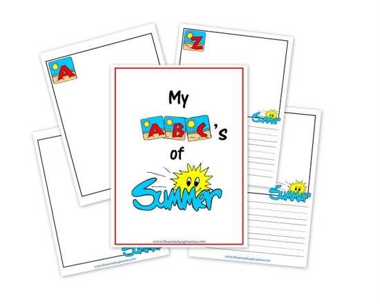 Free My ABC's of Summer Printable Journal