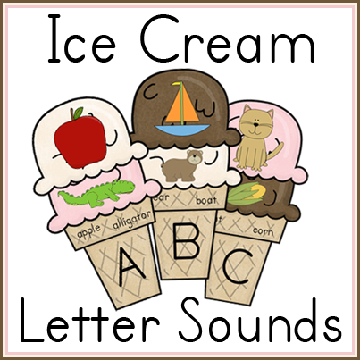 Free Ice Cream Letter Sounds Printable