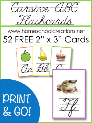 Free Cursive ABC Flashcards and Posters from Homeschool ...