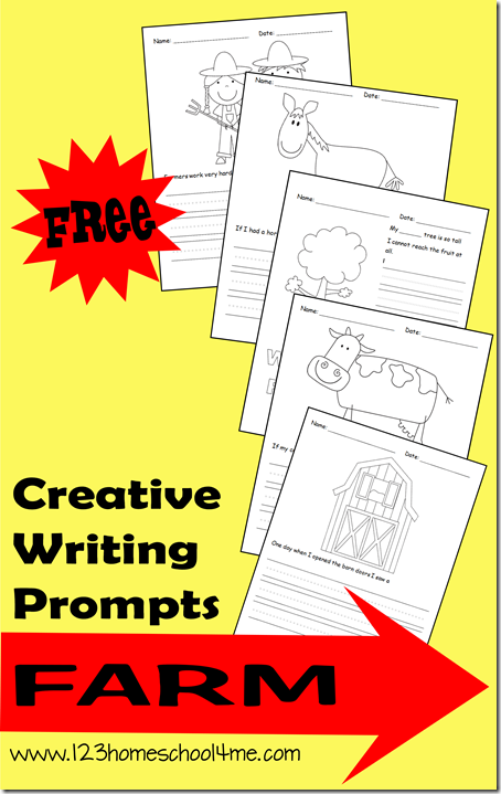 FREE Farm Themed Creative Writing Prompts