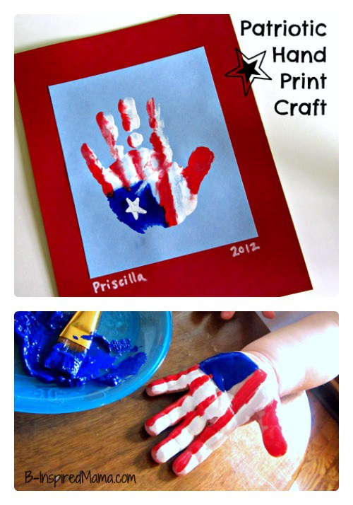 Patriotic Handprint Craft