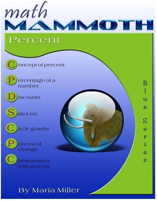 Math Mammoth Percent (Grades 6-8)