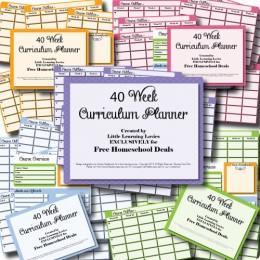 Free 40 Week Homeschool Curriculum Planner – Subscriber Freebie