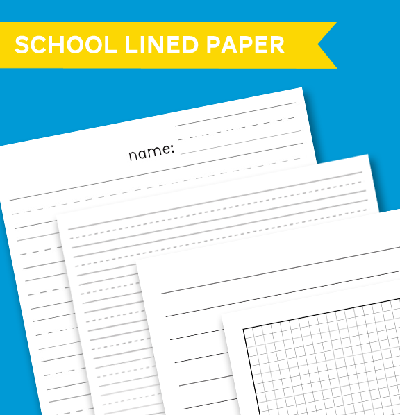 Free Lined Paper Printables