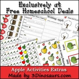 Free Fall Apple Activities Printable Set {Free Instant Download}