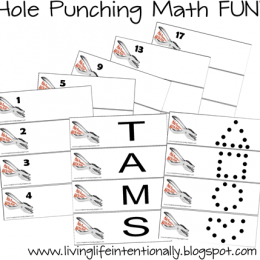 Math Games for Preschool and Kindergarten – FREE Hole Punching FUN