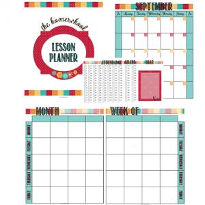 free homeschool lesson planner attendance tracker