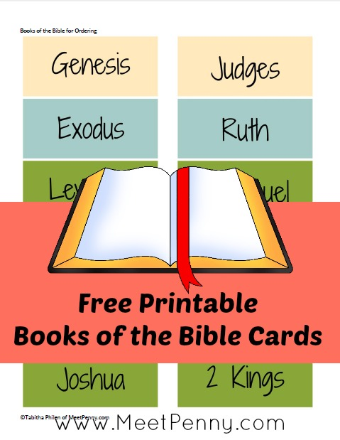 Free Printable Books of the Bible Ordering Cards