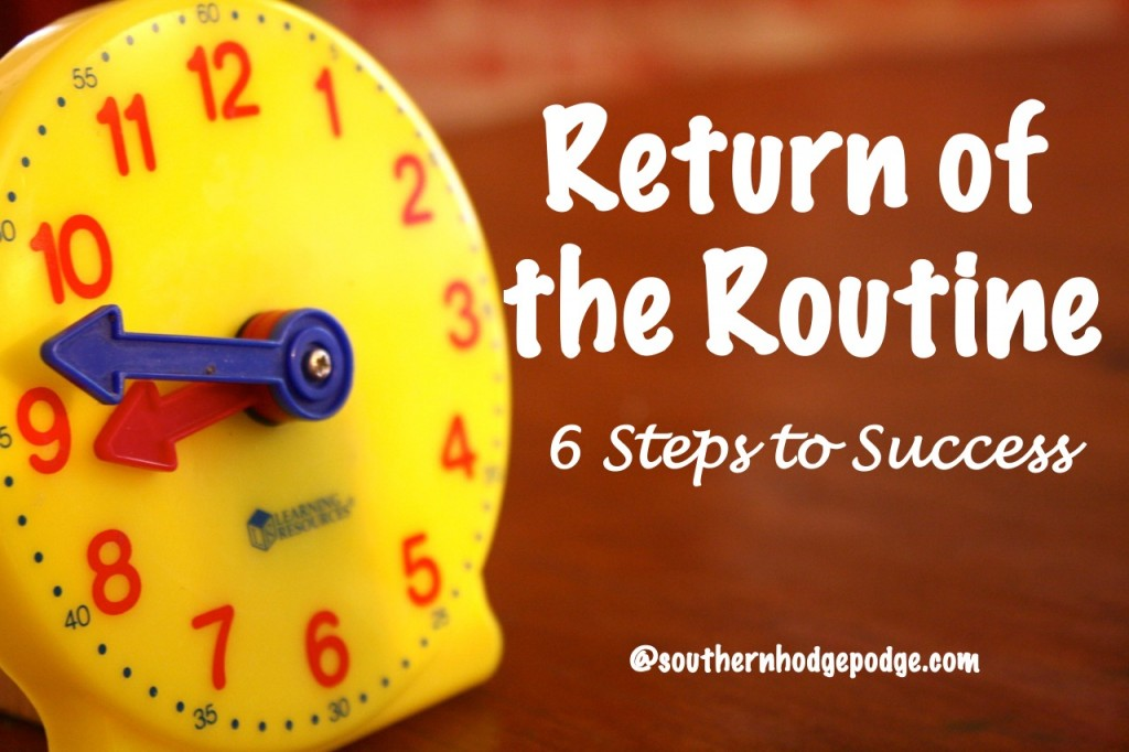 Free Homeschool eBook: Return of the Routine – Six Simple Steps to Success