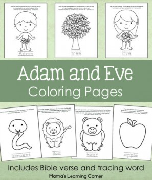 Free Adam and Eve Coloring Pages