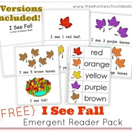 FREE I See Fall Emergent Reader Pack