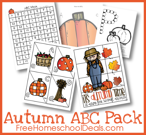 Free Fall Themed ABC Printable Pack