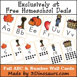 FREE Fall ABC & Number Wall Cards (Free Instant Download)