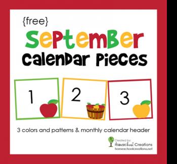 Free September Calendar Number Printables | Free ...
