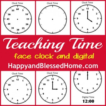 Free Teaching Time Printables for both Analog and Digital