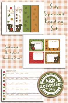 """Free Printable Reading Set for Kids – """"Fall for a Good Book"""""""