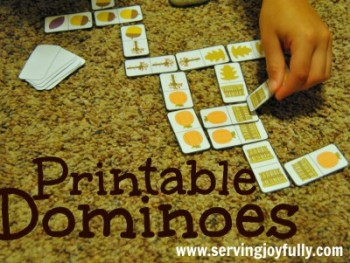 Free FALL-THEMED PRINTABLE DOMINO GAME