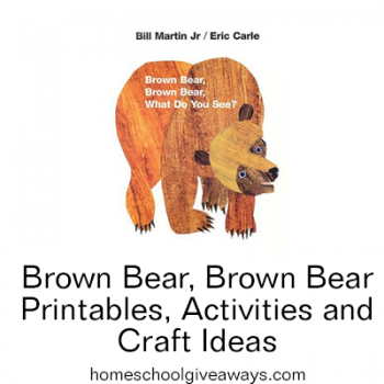 Free Brown Bear, Brown Bear Printables, Activities, and Craft Ideas