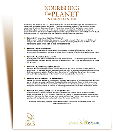 Free Science Curriculum from the Nutrients for Life Foundation