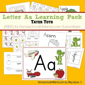 Free Letter Aa Learning Worksheet Pack (Subscriber Freebie)