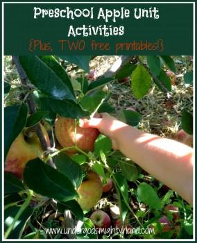 Free Preschool Apple Unit Activities + Free Printables