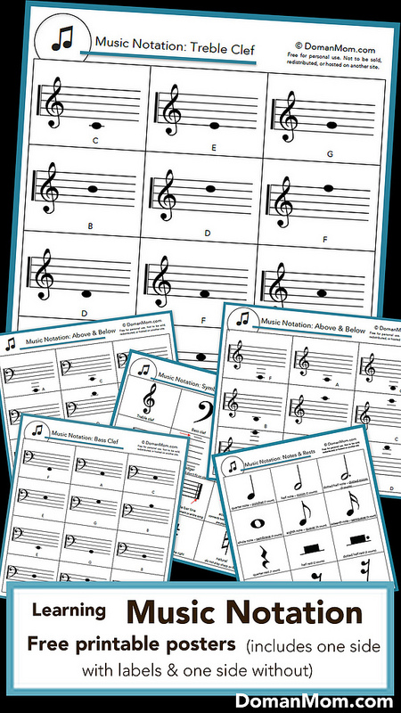 photograph relating to Printable Music Notation identify Absolutely free Printable Songs Notation Posters