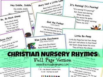 Free Christian Nursery Rhymes Printables