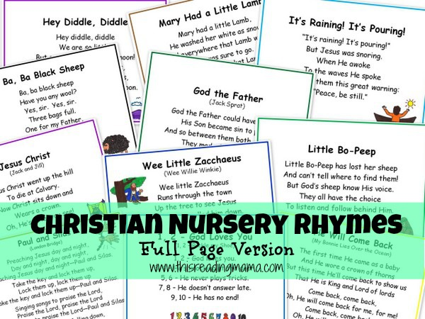 Free Christian Nursery Rhymes Printables