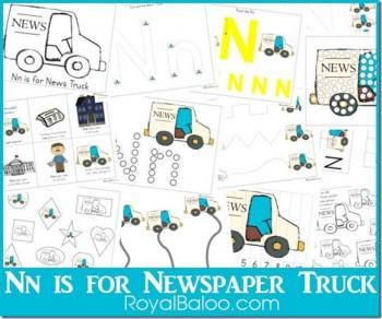 Free Nn is for Newspaper Pack