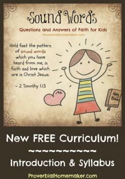 Free Bible Homeschool Curriculum: Sound Words