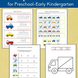 Free Transportation-Themed Printable Packet for Prek/Early K