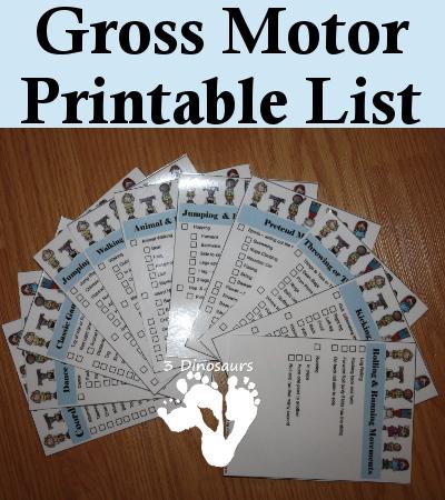 Free Gross Motor Printable List