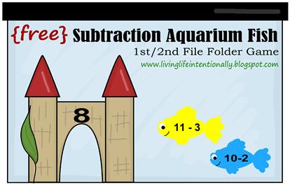 Free Subtraction Aquarium Fish Folder Game