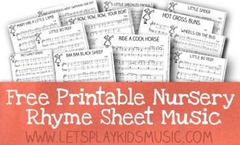 Free Sheet Music for Piano – Traditional Nursery Rhymes