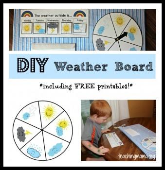 Free Preschool Weather Board Printables