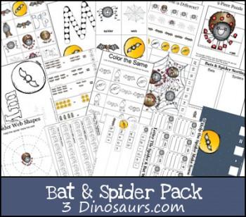 Free Bat & Spider Printable Pack