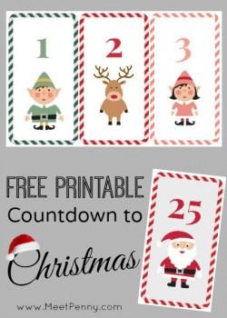 Christmas: Free Printable Countdown to Christmas