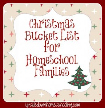 Free Printable: Christmas Bucket List for Homeschool Families
