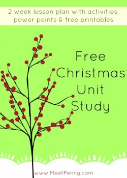 Christmas: Free Unit Study Lesson Plan, Printables, and Powerpoint