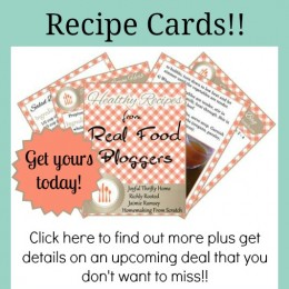 Free Real Food Recipe Cards