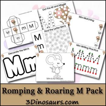 Free Printables: Free Romping & Roaring M Pack