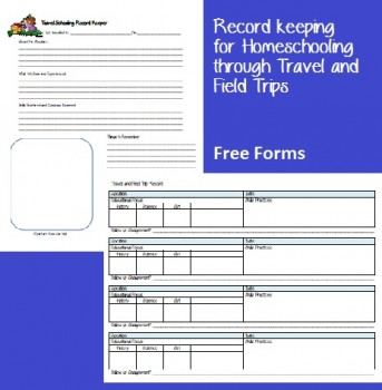 Free Field Trip Record Keeping and Planning Forms