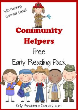 Free Community Helpers Reading Pack Printables