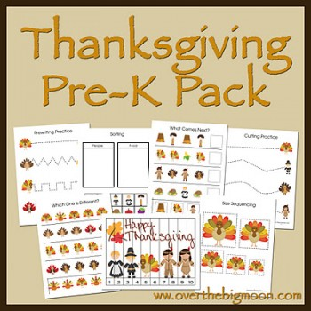 Free Printables: Thanksgiving Pre-K Pack