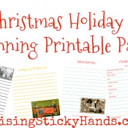 Free Christmas Holiday Season Planning Printable Pack
