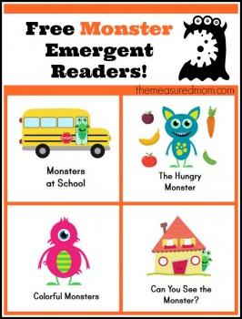 Free Emergent Reader: Monster Books for Kids