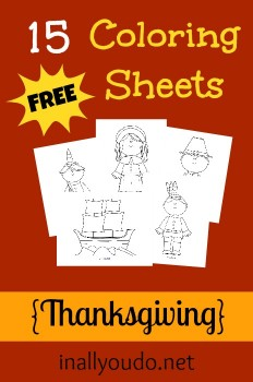 Thanksgiving: Free Coloring Sheets + Free Activity Placemats